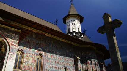 holy monasteries in Bucovina, Romania