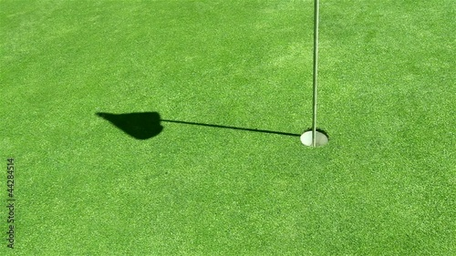 Golf - unconventional shot - billiard style