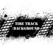 Tire track background on ink blots