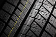 New winter car tire pattern.
