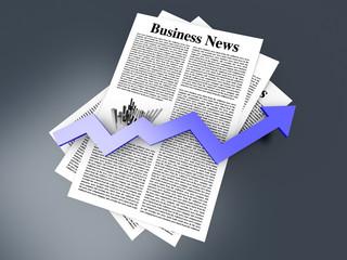 Business News - Aufwärtstrend