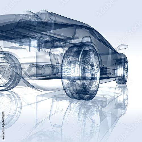 Auto Entwicklung - CAD-Darstellung - 44288160