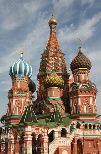 Domes of Saint Basil cathedral in Moscow