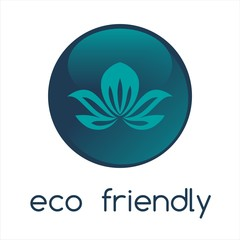 Blue water lily , Eco friendly business logo design
