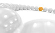 3D Kugel Kreis Fokus - Orange weiß 1