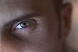 Œil, portrait, visage, homme, jeune, regard, expression