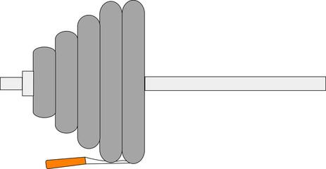 штанга и сигарета