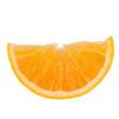 Sliced orange fruit segment