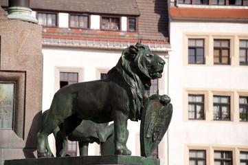 Otto der Reiche Denkmal in Freiberg Detail