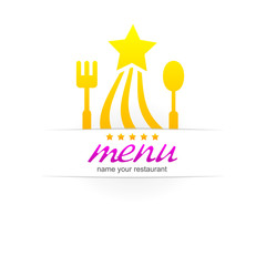kitchen menu design logo.