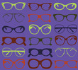 Seamless background from colorful sunglasses.