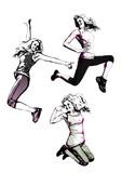 aerobics trio