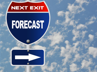 Forecast road sign