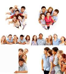 big group young people