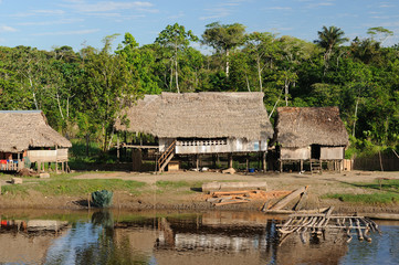 Peruvian Amazonas, Indian settlement