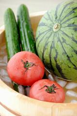 冷やした夏野菜