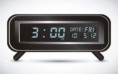 llustration of digital clock