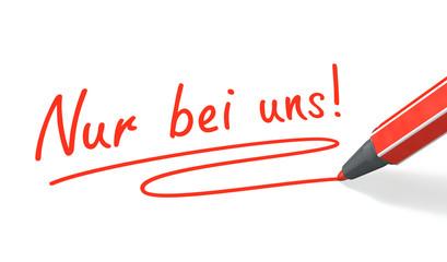 Stift- & Schriftserie: Nur bei uns! rot