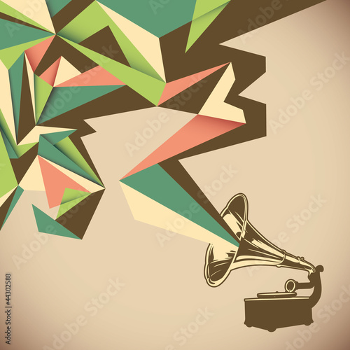 Angular abstraction with old gramophone.