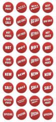 Set di adesivi di vendita promozionale