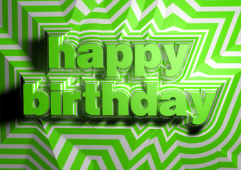 Happy Birthday text abstract background