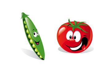 pea and tomato