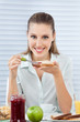 Businesswoman Having Healthy Breakfast