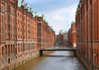 Speicherstadt warehouse district of Hamburg, Germany