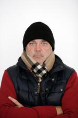 Mann in Winterkleidung