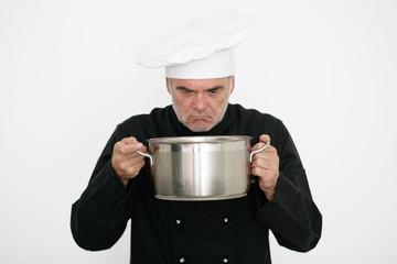 Koch ist unzufrieden
