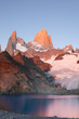 montagna fitzroy all'alba,parco,argentina,patagonia