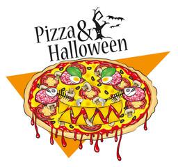 Halloweenpizza
