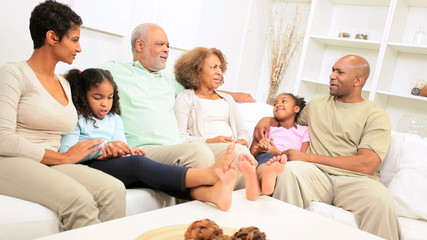 African American Generations Home Together