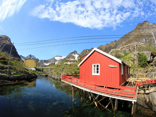 Traditional Rorbu of  Å i Lofoten