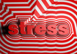 stress abstract text background