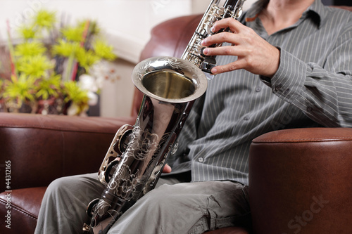 Saxophone rehearsal