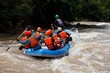 Rafting in the river in north of Thai