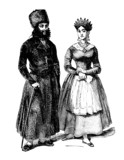 Pair : trad. East-European Jews - Juifs - Juden