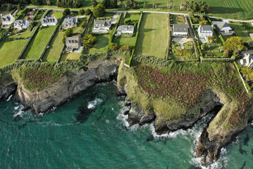 Route des Falaises, Pentrez vue du ciel, Finistère