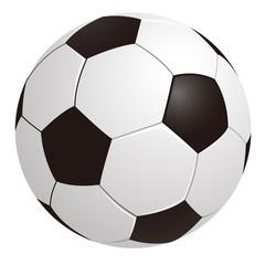 Fußball auf weißen Hintergrund