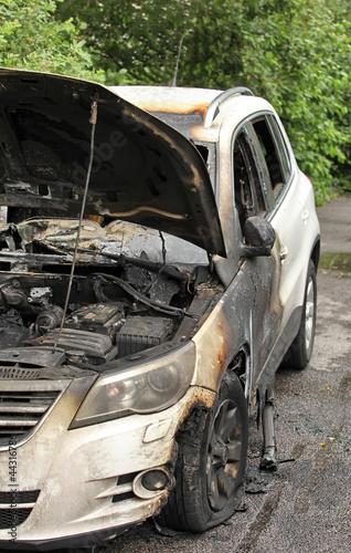 street crime set on fire car Volkswagen