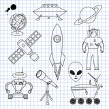 The images on the theme of outer space poster