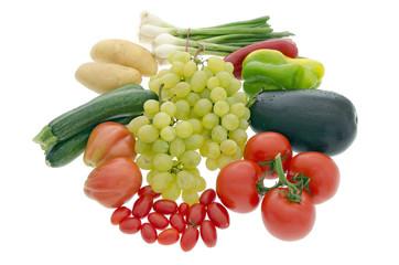 composizione di frutta e verdura