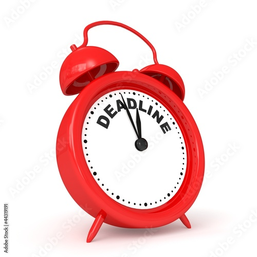 3d alarm-clock with logo DEADLINE