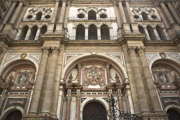 Fachada de la catedral de Málaga