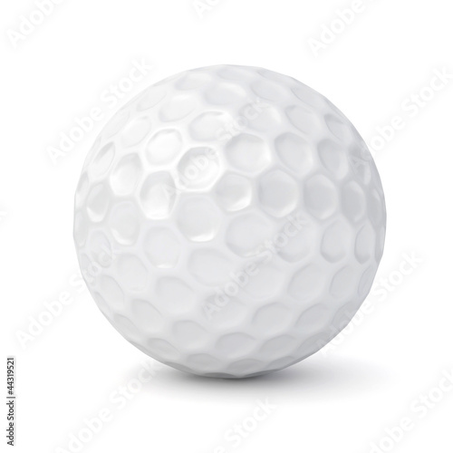 3d golf ball isolated on white