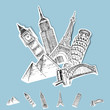 Vector Sticker Travel Destinations