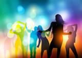 Fototapete Jung - Nachtlicht - Disco / Party