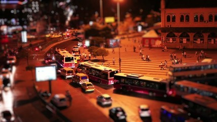 miniature effectkadikoy square time lapse