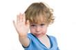 Leinwanddruck Bild - Kind sagt nein